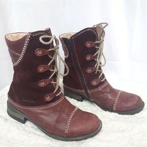 Josef Seibel Burgundy Pink Boots 39
